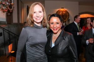 Left to right: Juleanna Glover and Sheila Johnson Photo Credit: The Italian Embassy