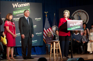Clinton endorses McAuliffe Photo Credit: Twitter