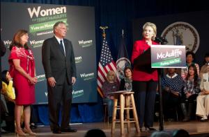 Clinton endorses McAuliffe Photo Credit: Twitter